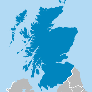 Map of landfill sites in Scotland